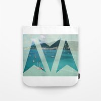 boats Tote Bags featuring Boats by Ria*