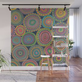 Boho Patchwork-Eden colors Wall Mural