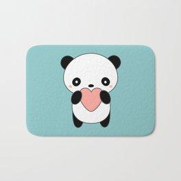 Kawaii Cute Panda Heart Bath Mat