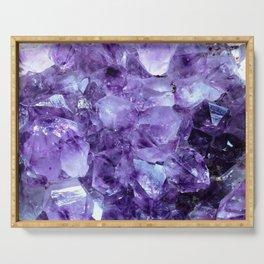 Amethyst Crystals Serving Tray