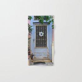 Door in port of Aegina 1 Hand & Bath Towel
