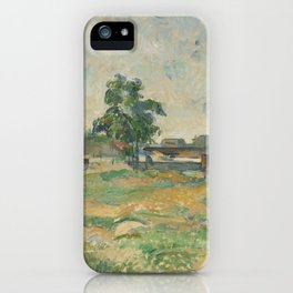 Paul Cézanne - Landscape near Paris iPhone Case