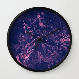 Pink and Purple Tendrils - An Abstract Piece Wall Clock