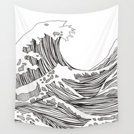 great big wave Wall Tapestry
