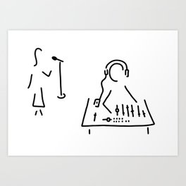 sound engineer studio admission mixing writing desk Art Print