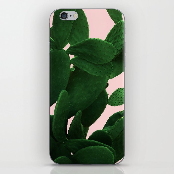 Cactus On Pink iPhone Skin