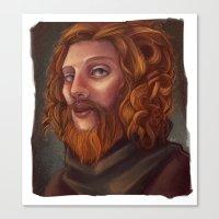 neil gaiman Canvas Prints featuring Neil by AliciaThompson
