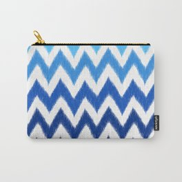 Ombre Ikat Chevron  Carry-All Pouch