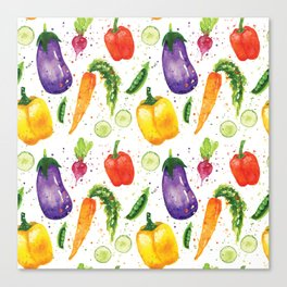 Very Veggie Pattern Canvas Print