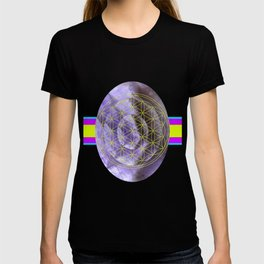 Mystical Flower of Life Amethyst #society6 T-shirt