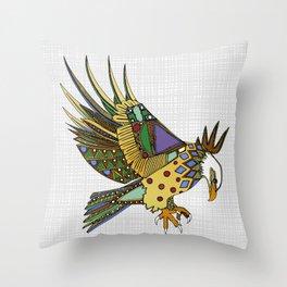 jewel eagle white Throw Pillow