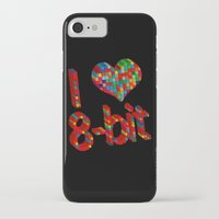 8 bit iPhone & iPod Cases featuring i heart 8-bit by frederic levy-hadida