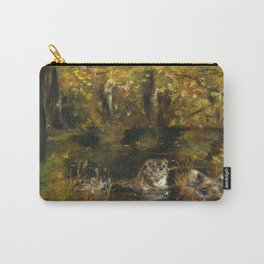 Totem otter in autumn Carry-All Pouch