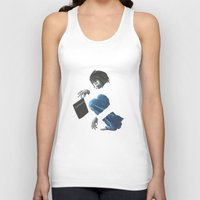 death note Tank Tops featuring Death Note L by Papan Seniman