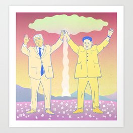 Put up your nukes Art Print