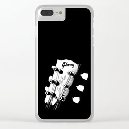 Gibson Les Paul Head - Guitar - Rock and roll -Blues - Music Clear iPhone Case