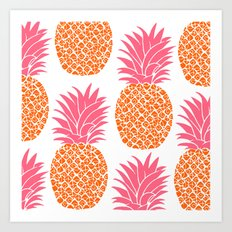 Modern Pineapples Art Print