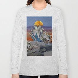DESERT MOON AGAVE  LANDSCAPE CACTUS ART Long Sleeve T-shirt