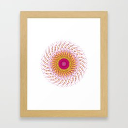 For when you enfold me in your complexities Framed Art Print