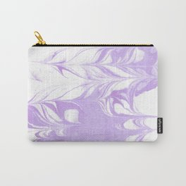 Marble pattern purple and white minimal inked minimalism marbled art Carry-All Pouch