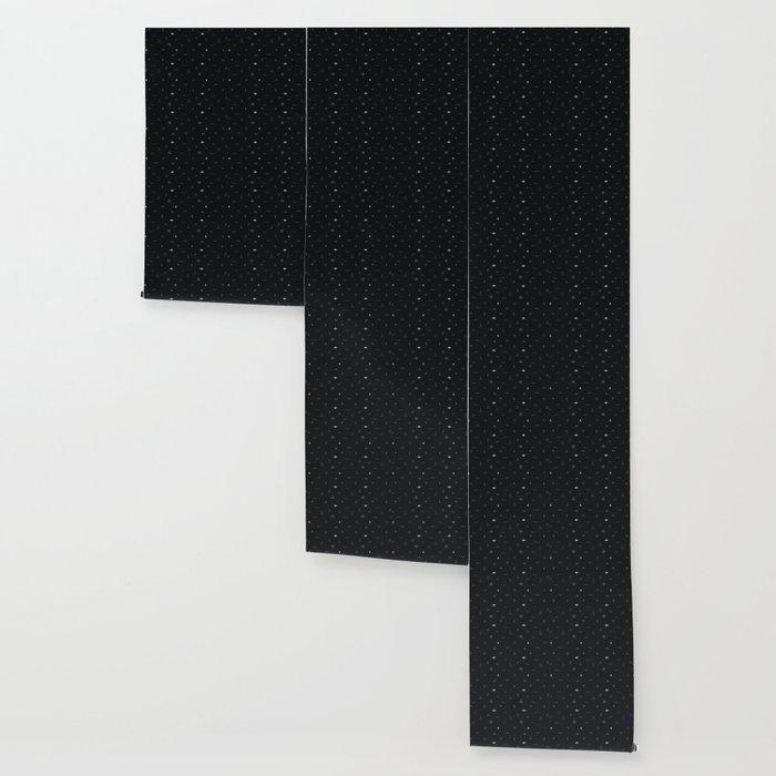 Southwestern Symbolic Pattern in Black & Cream Wallpaper