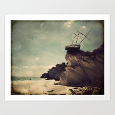 Pirate Ship Tall Ship - The Edge of the World Art Print