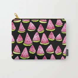 Watermelons - black background Carry-All Pouch