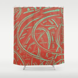 Junction - Red and Green Shower Curtain