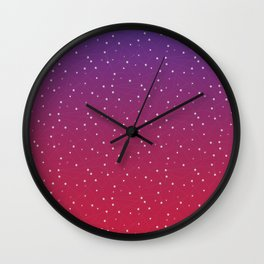 Constellations (Red) Wall Clock