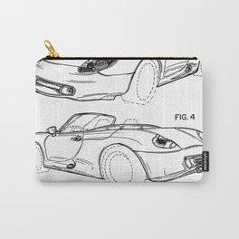 911 Racing Car Patent - 911 Carrera Art - Black And White Carry-All Pouch