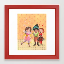 Friends in halloween Framed Art Print
