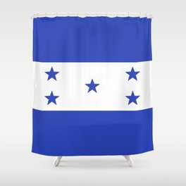 Honduras flag emblem Shower Curtain