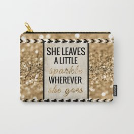 She Leaves a Little Sparkle Wherever She Goes Carry-All Pouch
