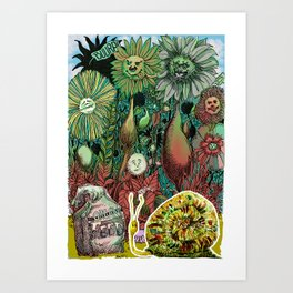 The case of The Wrong Feed On The Ol' Snail Trail... Art Print