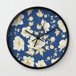 Design of vintage floral pattern. Wall Clock