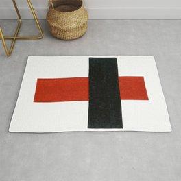 Kazimir Malevich - Hieratic Suprematist Cross, 1921 Artwork for Wall Art, Prints, Poster, Tshirts, Men, Women, Kids Rug