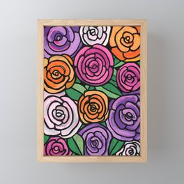 Spring Roses Framed Mini Art Print