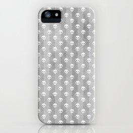 Grey & White Skulls iPhone Case