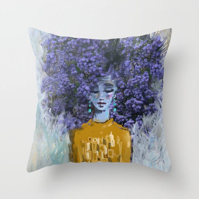 California Lilac Throw Pillow
