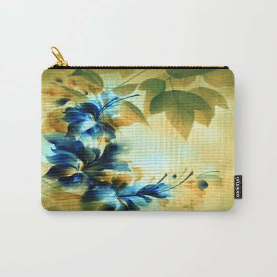 Autumn Evening Floral Abstract Carry-All Pouch