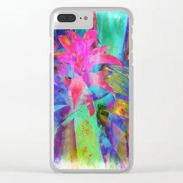 Exotic Pink, Abstract Flower, Floral Arrangement, Modern Art, Wall Art, Flowers Clear iPhone Case