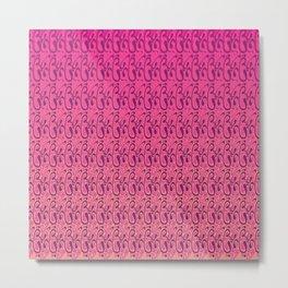 Swirl Whirl Pink Metal Print