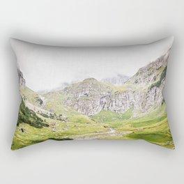 The Alps, Mountains, Landscape Scene Rectangular Pillow