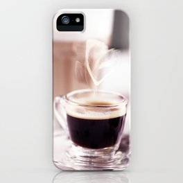 Coffee with heart iPhone Case