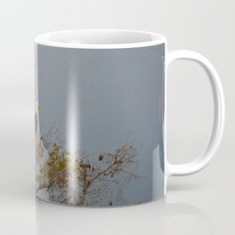 Bald Eagle above the Athabasca River in Jasper National Park Coffee Mug