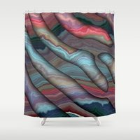 agate Shower Curtains featuring Agate by RingWaveArt