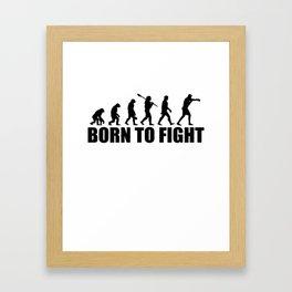 Boxer, martial art, sport Framed Art Print