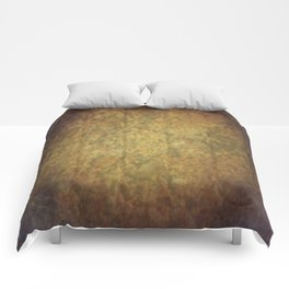 Brown and beige grunge marbled texture Comforters