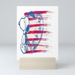 Snoopy Love July 4th USA America T Shirt Mini Art Print