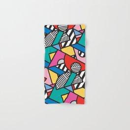 Colorful Memphis Modern Geometric Shapes - Tribal Kente African Aztec Hand & Bath Towel